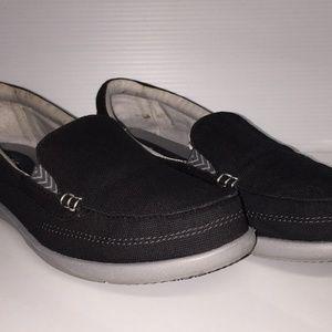 Crocs triple comfort black canvas shoes